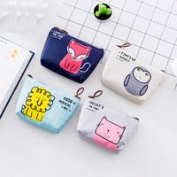 Cat Portamonete Portafogli Small Animal Cute Cartoon Owl Cat Fox Lion Key Card Bag Money Bags borsa delle signore delle ragazze bambini