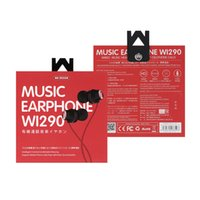 دي إتش إل هونج كونج شعار شعبية WI290 في الأذن سماعات الهاتف المحمول التي تسيطر عليها الأسلاك الثقيلة باس الفرقة ميكروفون صوت الموسيقى سماعات