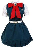 Danganronpa V2 Gakuen Sonia Nevermind Cosplay Kostüm Lise Üniforma Takım Kıyafet Etek