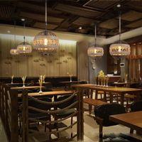 E27 Led light ретро веревка промышленная ветряная люстра для интернет-кафе ресторан кафе бар мяч персонализированные лампы