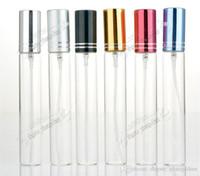 10ml Metal Boş Cam Parfüm Doldurulabilir Şişe Sprey Parfüm Atomizörlerin Şişeleri DHL / EMS / Fedex Ücretsiz Kargo 10 renk
