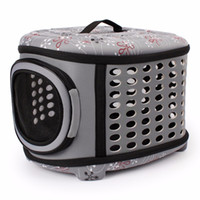 Gomaomi Collapsible Dog Bag Pet Carrier House with Hard Cove...