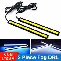 2pcs / lot 17cm 유니버셜 낮 주간 실행 조명 COB DRL LED 자동차 램프 외부 조명 자동 방수 자동차 스타일링 LED DRL 램프 170mm