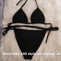 Estilos de la mezcla 96 Ropa de natación bikiní del diseñador traje de baño determinado con cojín Lable vendaje de dos piezas atractivo del traje de baño de alta calidad