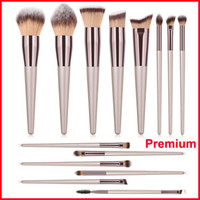 Premium 14 stücke Pinsel Set Kabuki Make-Up Pinsel Lidschatten Pulver Blending Contour Foundation Pinsel Augenbrauen Wimpern Schönheit Kosmetik Pinsel