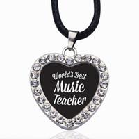 La migliore collana d'incanto del mondo dell'insegnante di musica del mondo per le stelle di cristallo Collane girocolli collane di catena Gioielli di moda