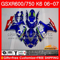 Body For SUZUKI GSX R600 GSX- R750 GSXR- 600 GSXR600 06- 07 8HC...
