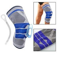 Fitness Course genou vélo soutien bretelles élastiques en nylon sport compression manches pour coussin pour les genoux de basket-ball Volley-ball