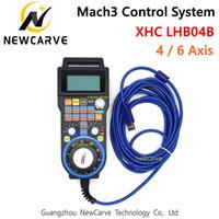 XHC más nueva conexión de cable Mach3 MPG colgante Volante controlador CNC para la máquina de grabado del eje 4/6 NEWCARVE