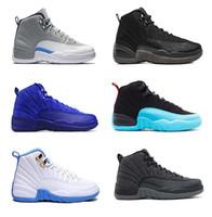 12s Zapatillas de baloncesto Men 12 Juego de taxi inverso Gimnasio Royal Negro Gimnasio Rojo Gripe Gamma Air Gamma Blue Mens Sports Sneakers Retro Tamaño 8-13
