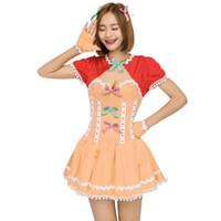 Disfraz de tema 2021 Mujer Moda Corta Lolita Vestido Sexy Niñas Japonesas Kawali Sweet Plised Halloween Anaranjado Equipo de calabaza para adolescente