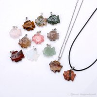 Fish Pendant Set Necklace Multi Materiallot Crystal Agate Me...