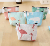 200pcs Women canvas Sea Bear Printed change coin Purse walle...