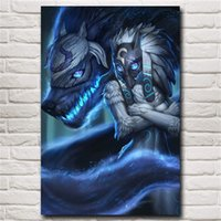 Kindred League of Legends - Jeu LoL, Impression sur toile HD, décoration de maison