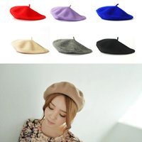 17 Color Womens Wool Beret Solid Spring Autumn French Artist...