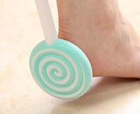 Bonito Estilo Pirulito Candystone Rasp Pedra Pomes Pedra Calos Pedicure Removedor de Tratamento de Pé Pedicure Raspador Scrubber Ferramenta de Cuidados Com o Corpo