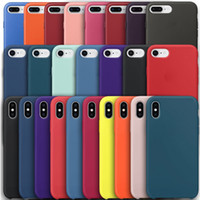 Original Silicone Cases for iPhone 7 8 Plus cover capa For i...