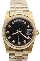 Top Luksusowy Dzień Mechaniczny Zegarek Męski Czarny Bransoletka Stainless Steel Automatyczny ruch Złoty Silver Designer Zegarki Zegarki na rękę Data