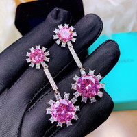 Designer Crystal Earrings Luxury jewelry S925 Silver Plated ...