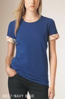 2020 New 100% coton pour femmes Designer T-shirt Femmes Plaid court SleeveTee pour l'été des femmes T-shirts Chemises habillées