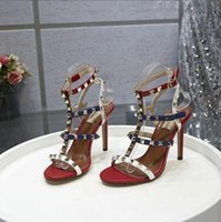 2019gladiator sandals golden high heels fashion summer shoes...