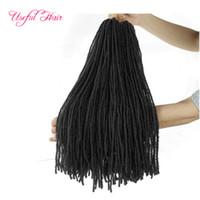 Diy Crochet Hair Extensions 합성 헤어 윅 옴 브레 금발 18 인치 벌크 꼰 금발 머리 자매 마이크로 묶음 묶음
