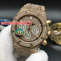 Top fashion men' s hot- selling watches full ice out diam...