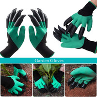 8 Claw Garden Gloves ABS Plastic Garden 1 Pair Genie Rubber ...