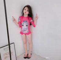 아이 수영복 원피스 여자 수영복 아이들 수영복 긴 소매 수영복 소녀 어린이 해변 착용 다이빙 수영