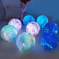 Farbe 4 Neue kreative LED-Leuchten Stern Traum Lichter 3D-Drucken von Farb Moon Lamp Kinderweihnachtsbeleuchtung Spielzeug T2I5676