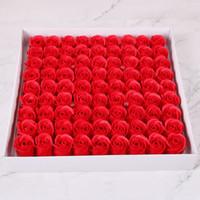 15 cores 81 pcs Simulação Rose sabão criativo férias de casamento Rainbow Soap presente única flor cabeça atacado opção multicolor