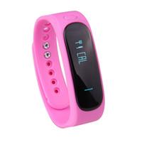 E02 Smart-Armband Wasserdicht Fashion Bluetooth Smart Activity Tracker Armband-Band-Anruf SMS Erinnern Sport-Uhr Connecte für iPhone und Android