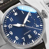 럭셔리 로즈 골드 망 2813 기계 자동 운동 패션 시계 남성 디자이너 파워 재발 큰 파일럿 시계 손목 시계