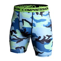 Homens Exercício Ginásio Shorts Pro Quick-Seco Sportswear Running Bodybuilding Skin Sport Training Fitness Compression Shorts com CX