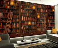 침실 벽지 3D 벽화 장식 그림 벽지 책을 책장 배경 화면 배경 벽