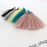 Bebek kız yaz elbise gazlı bez örgü TUTU elbiseler kolsuz Prenses balo 1-3Y çocuk Trendy A-Line Giyim Çocuk Giyim 80-130 cm LY421
