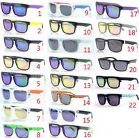 Marque Designer Spied Ken Block Sunglasses Helm 22 couleurs Mode Hommes Square Cadre Brésil Rayons chauds Homme Conduite Sun Lunettes Shambres Lunettes