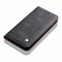 Luxury Vintage Leather Flip Magnetic Card Slot Wallet Cover Case for Samsung S10 S20FE Ultra Note10 Plus A10 A20 A30 A40 A50 A60 A70 A80 A90