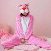 Kigurumi Long Sleeve Hooded Panther Onesie Women Cute Animal...