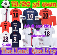 newest 19 20 PSG Adult and kids kit soccer Jerseys 19 20 mba...