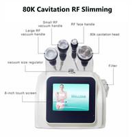 Alta Qualidade 80K Máquina de Cavitação Ultrasonic Slimming Gordura Gordura Celulite Remoção de Vácuo RF Pele apertando o contorno do corpo do lipo