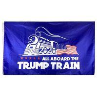 3x5 FT Trump train Drapeau bas prix en gros Polyester Volant Hanging USA Président Élection Bannières Drapeau