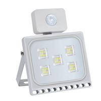 Outdoor LED 30W Flood luz fria branca com PIR Motion Sensor 110V Projectores ao ar livre Luzes da segurança