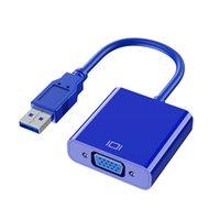 التوسع USB3.0 إلى VGA محول 1080P الحاسوب لVAG الخارجية كمبيوتر محمول محول محول الكابل لجهاز كمبيوتر سطح المكتب مراقب العارض HD TV