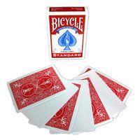 자전거 빈 얼굴 레드 / 블루 돌아 가기 마술사 카드 for 강력 접착 갑판 포커 특수 소품을 닫습니다 마술 트릭을 재생