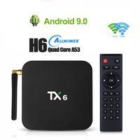 4GB 32GB 64GB الذكية التلفزيون صندوق TX6 أندرويد 9.0 ALLWINNER H6 رباعية النواة المزدوجة واي فاي USB3.0 6K تعيين كبار مربع