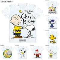 PEANUTS T-Shirt Charlie Brown Woodstock Charles Monroe Sparky Schulz Anime Benutzerdefinierte Casual Cosplay T-Shirt Druck Kurzarm T-Shirt