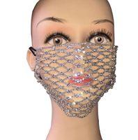 Bling Rhinestone Máscara del acoplamiento del Rhinestone Cara Jewlery de Máscaras joyería de las mujeres elástico hueco Cara Cuerpo Noche partido del club GGA3437-6