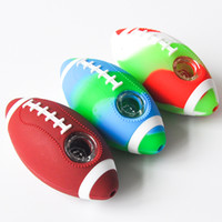4. 0inches Football Hand Pipe Tobacco Smoking Pipe Glass Pipe...