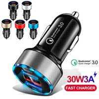 LED Display QC3. 0 Car Charger Fast Quick Charging Car charge...